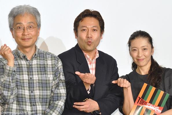 左から小中和哉監督、神田裕司監督、有森也実