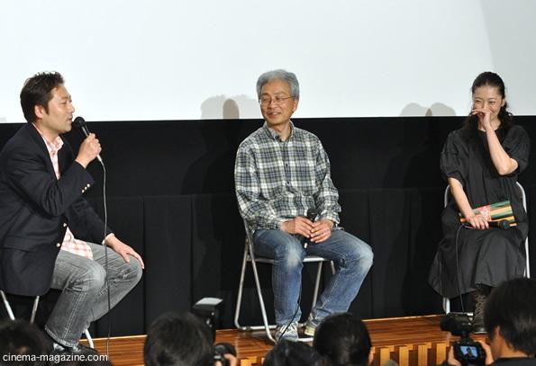 左から神田裕司監督、小中和哉監督、有森也実
